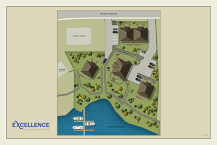 Plan du site Condominiums Duvernay
